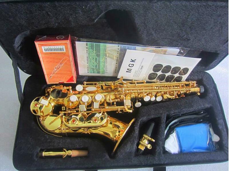 Haut B plat saxo Soprano petit Saxophone Soprano saxo courbe adulte enfants vent instruments de musique livraison gratuite