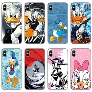 For Huawei Mate 20 10 9 P30 P20 P10 P9 pro Lite P Smart plus 2019 Transparent cover case cartoon Donald Daisy Duck(China)