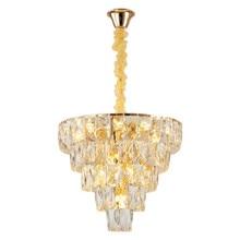 New Crystal Chandelier Living Room Ceiling K9 Crystal Hanging Lights Fixture Nordic Crystal Chandeliers Dining Room Pendant Lamp