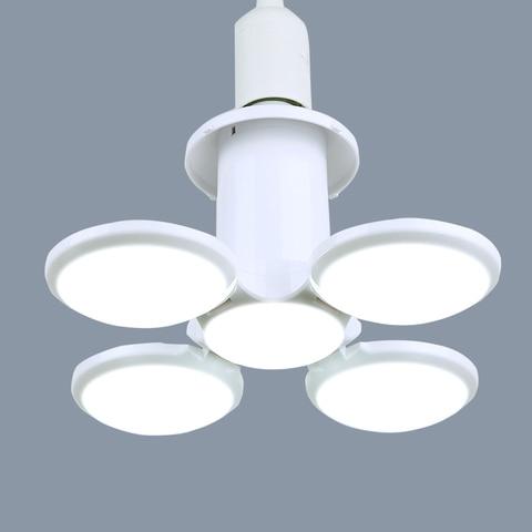 super brilhante 40 w 60 w lampada led e27 folding luz fa de futebol lampadas