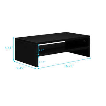 Top Quality Wood Arm Riser Desk Storage Organizer 16.7 inch TV Computer Monitor Stand for Study Room,Office,Living Room,Bedroom