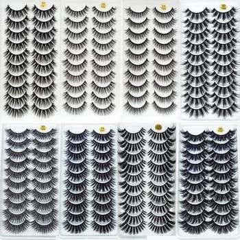 5/10Pairs HandMade Mink Eyelashes Makeup 3D Mink Lashes Natural False Eyelashes Long Eyelashes Extension 5 Pairs Fake Eyelash 1