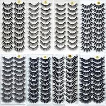 10 pares 3d vison cílios maquiagem natural longo cílios postiços dramática extensão artesanal falso cílios maquiagem