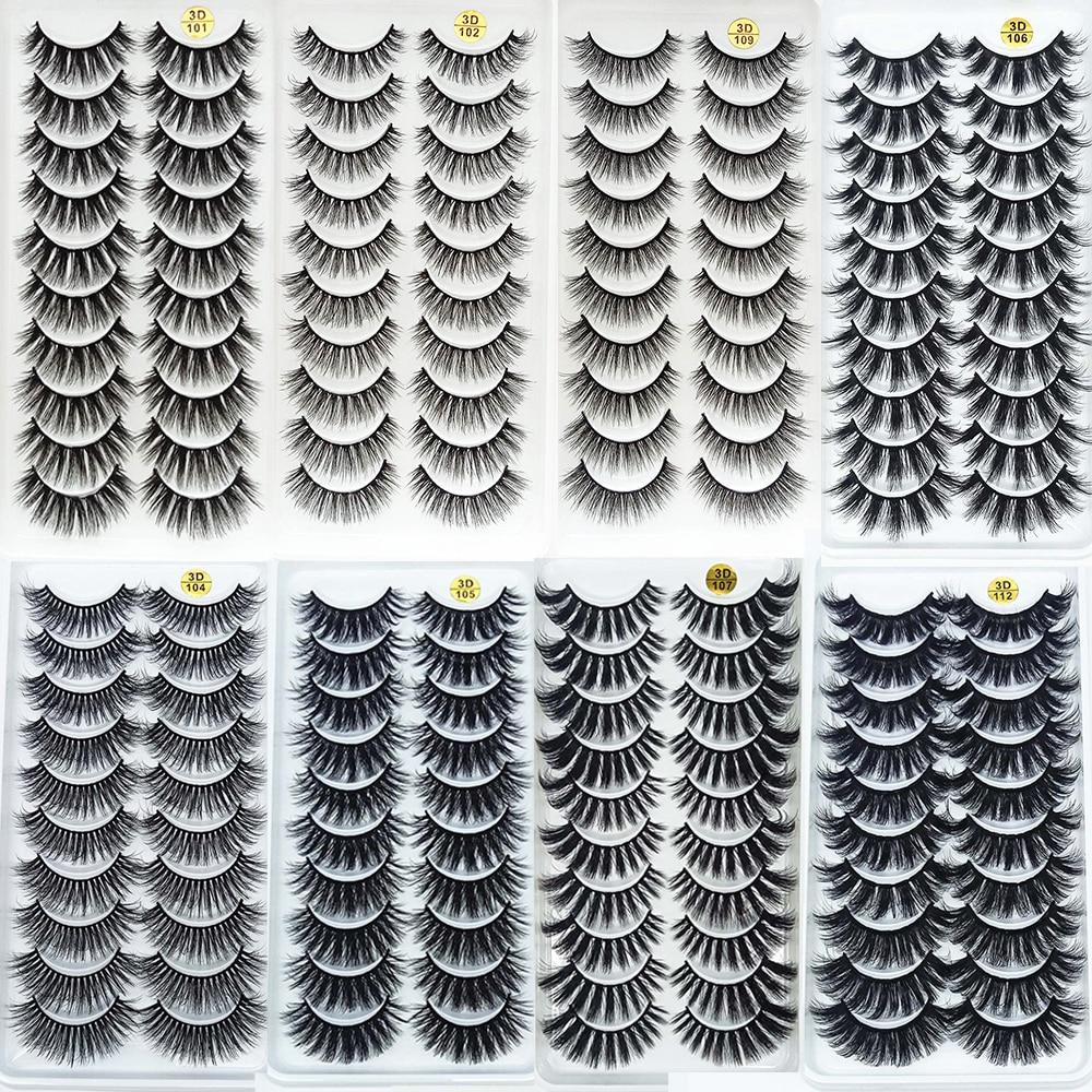10Pairs 3D Mink Lashes Natural Eyelashes Dramatic False Eyelashes Faux Cils Makeup Wholesale Fake Eyelash Extension maquiagem