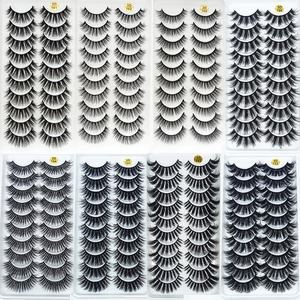 5/10Pairs HandMade Mink Eyelashes Makeup 3D Mink Lashes Natural False Eyelashes Long Eyelashes Extension 5 Pairs Fake Eyelash(China)