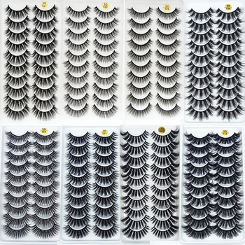 5/10Pairs HandMade Mink Eyelashes Makeup 3D Mink Lashes Natural False Eyelashes Long Eyelashes Extension 5 Pairs Fake Eyelash Beauty & Health