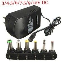 Dreamestone универсальный источник питания AC DC адаптер конвертер 100-240 В 3/4. 5/6 в 7,5 в 9 в 12 В блок питания зарядное устройство 3.0A ЕС/США штекер