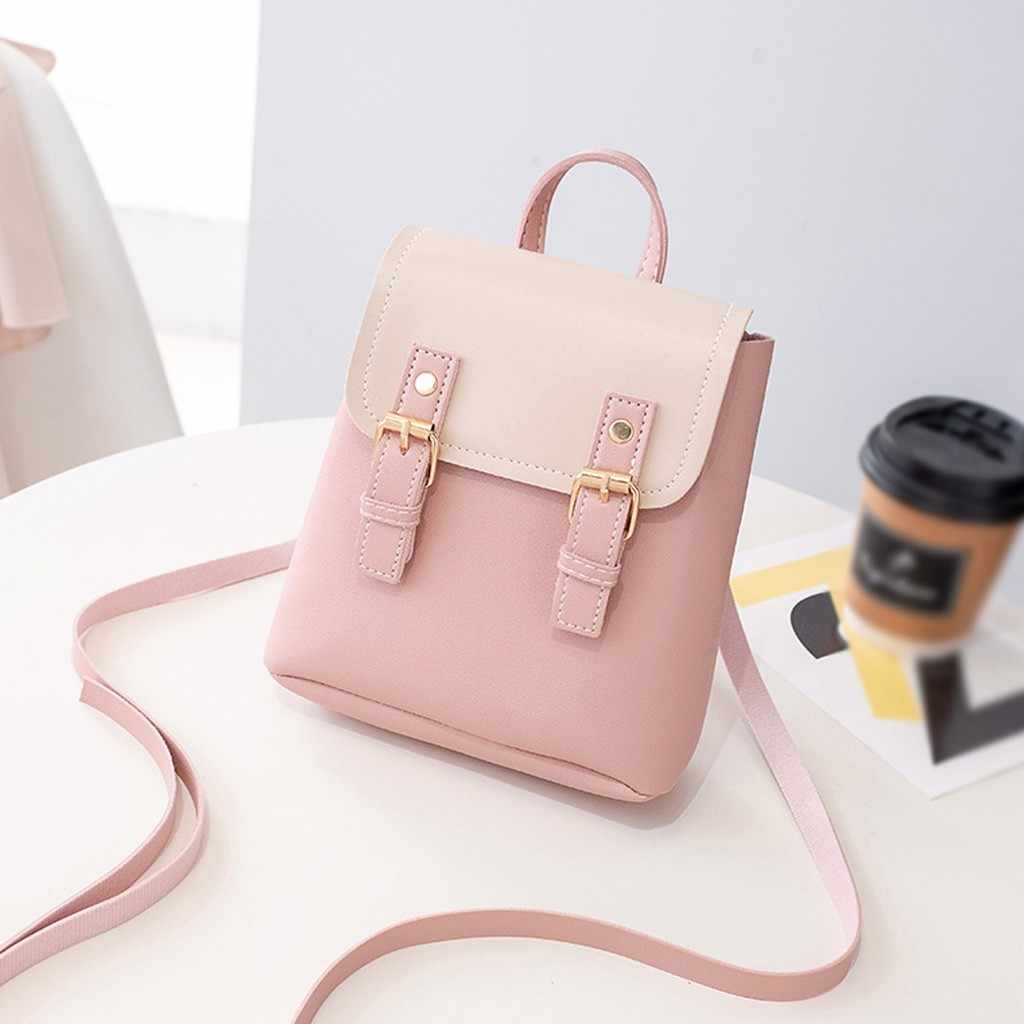 Fashion Women Small Backpack Letter Purse Mobile Phone Bag Casual Girls School backpack Bags for women mochila feminina #20D