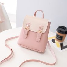 Fashion Women Small Backpack Letter Purse Mobile Phone Bag Casual Girls School backpack Bags for women mochila feminina #20D(China)