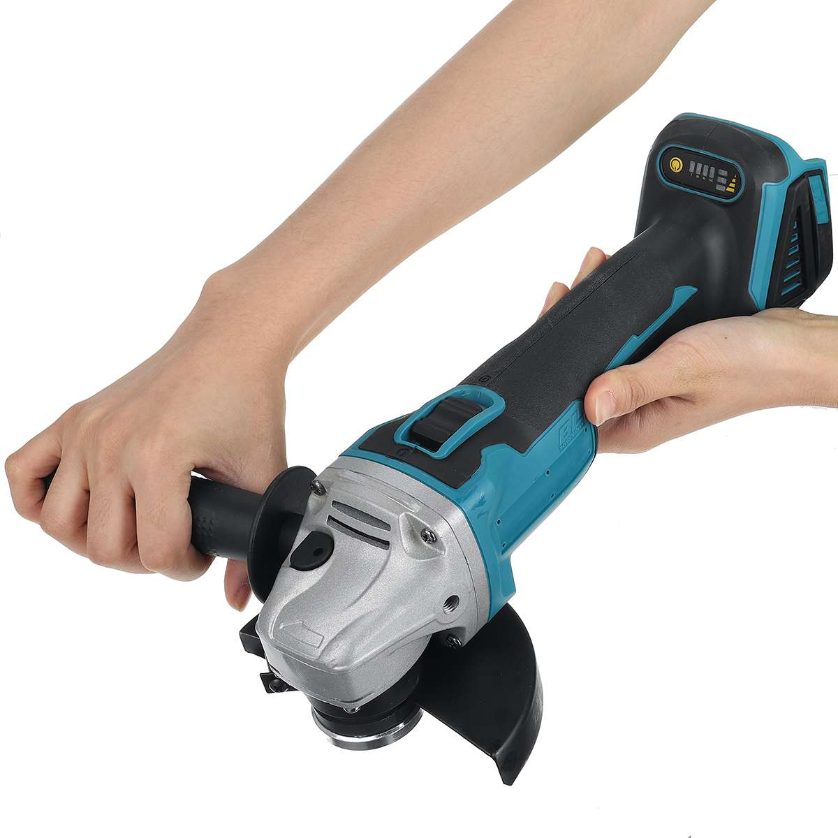 800W 125mm Brushless Cordless Impact Angle Grinder Electric DIY Power Tool Cutting Machine Polisher for 18V Makita Battery
