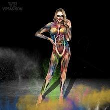 VIP אופנה חדש 3D מודפס התקפה על טיטאן אנימה בגד גוף איבר פורים פסטיבל קרנבל צבעוני Cosplay תלבושות עבור ליל כל הקדושים