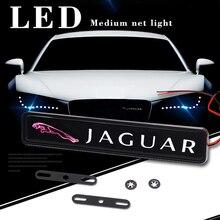 XE Ô Tô Lưới Tản Nhiệt Trước Quốc Huy Huy Hiệu Đèn LED Cho Jaguar XF XFL XJ XJL XE XEL XK XKR XJ6 Tôi Tốc Độ fpace Epace Stype Ftype Phụ Kiện