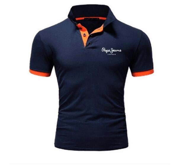 2019 New Fashion Men Polo Shirt Short Sleeve PE PE Printed Casual Polo Shirts Fashion Tops S-5XL Free Shipping S-5XL