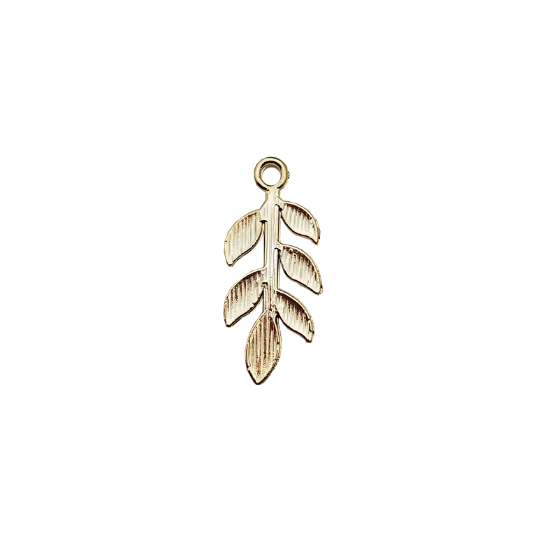 20pcs Zinc Alloy Golden Mini Leaves Charms Floating For DIY Fashion Drop Earrings Jewelry Making Accessories Tree Leaf Pendants 6