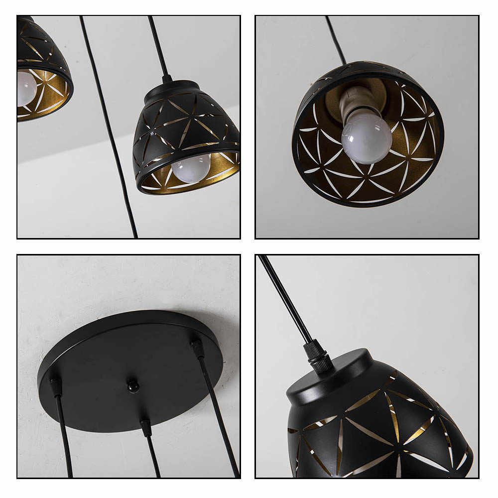 Nordic Eisen Anhänger Lichter Vintage schwarz Moderne LED Hängen Lampe für Wohnzimmer Restaurant Home Loft Industrie Decor Luminair