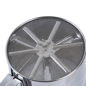 Image 3 - Stainless Steel Mesh Flour Sifter Mesh Flour Bolt Sifter Manual Sugar Icing Shaker Mechanical Baking Shaker Sieve Kitchen Tools