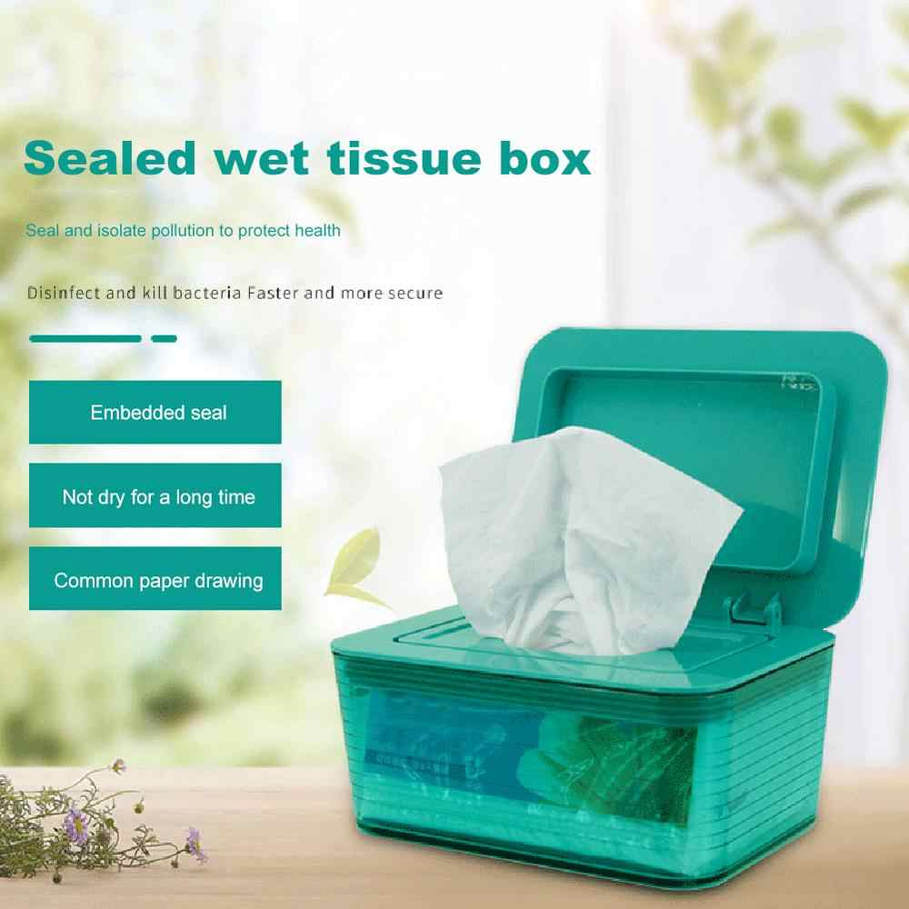 Sealed Wet Tissue Box Wipes Dispenser Storage Box Holder Container Home Office