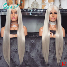 Platinum Blonde Straight Full Lace Human Hair Wigs Pre Plucked Deep Middle Part Remy Hair Full Wig for Women 13x6 150% Qearl
