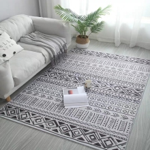 Morocco style INS popular geometric printed rug ,Nordic big size living room coffee table  mat, all match decoration floor mat