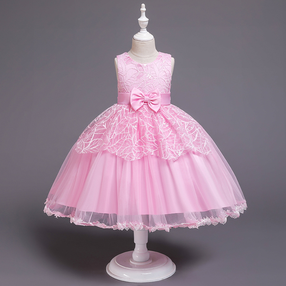 Children Short Wedding Dress Puffy Lace Princess Dress 1-6-Year-Old Infants Childrenswear Girls CHILDREN'S DAY Costume