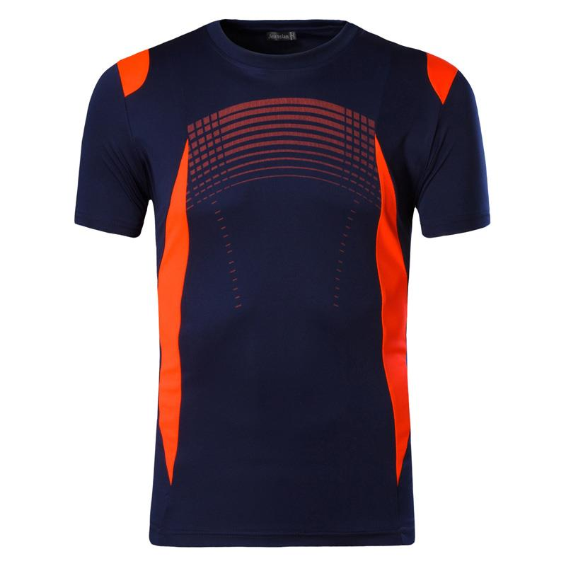 jeansian Men 39 s Sport Tee Shirt Tshirt T shirt Short Sleeve Dry Fit Running Gym Fitness Workout LSL194 Navy in T Shirts from Men 39 s Clothing