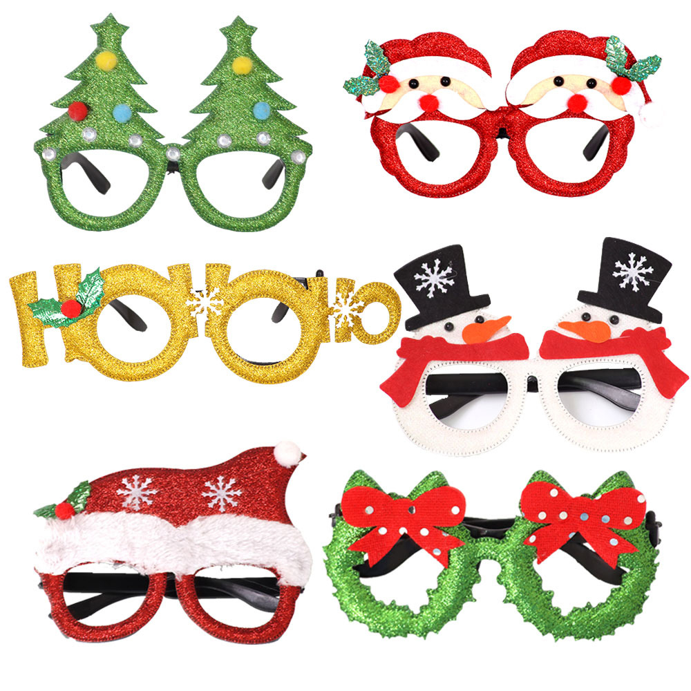Kids Christmas Glasses Santa Snowman DIY Craft Educational Toys For Children Adult Funny Gift Christmas New Year Decoration