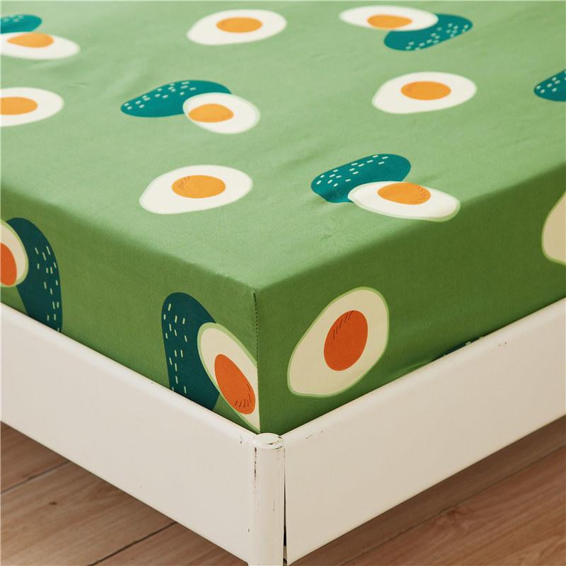 Авокадо постельное белье 1 шт простыней на кровать зеленый авокадо печатных простыня наматрасник с Эластичная лента постельного белья (без наволочки)-2