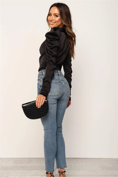 2019 Fashion Women Satin Blouses Bow Neck Long Sleeve Elegant Blouse Office Lady Shirts Female Blusas S-XL 1