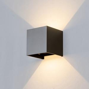 Image 4 - Einstellbar Wand Licht 6W LED Indoor Outdoor Aluminium Wandleuchte Oberfläche Montiert Cube Wand Beleuchtung außerhalb Garten Wand Lampe