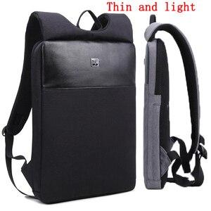 2020 новый мужской рюкзак ультратонкий 14 15 дюймов тонкий рюкзак для ноутбука корейский модный сверхлегкий деловой рюкзак простой рабочий рюк...