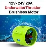 1PCS 12V 24V 20A Underwater Thruster 4 Pás Da Hélice Do Motor Brushless de Propulsão 30-200W Partes para RC Isca Barco Rebocador 2019 Novo