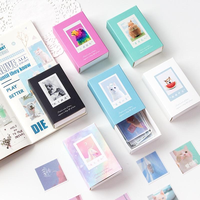 120pcs 1lot Kawaii Stationery Stickers Diary INS cute font b pet b font Decorative Mobile Stickers