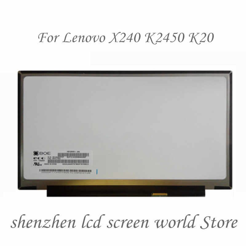 """ل BOE HB125WX1-200 FRU 00NY403 HB125WX1 200 مصفوفة لأجهزة الكمبيوتر المحمول 12.5 """"30Pin eDP 1366X768 HD ماتي شاشة الكريستال السائل"""