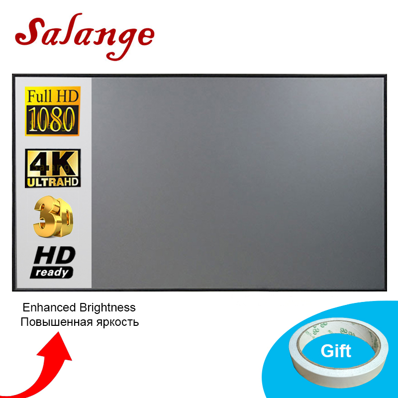 Salange Projektor Bildschirm, 72 84 100 120 zoll 16:9 Reflektierende Stoff Tuch Für YG300 YG400 XGIMI H2 JMGO DLP LED Xiaomi Projektor
