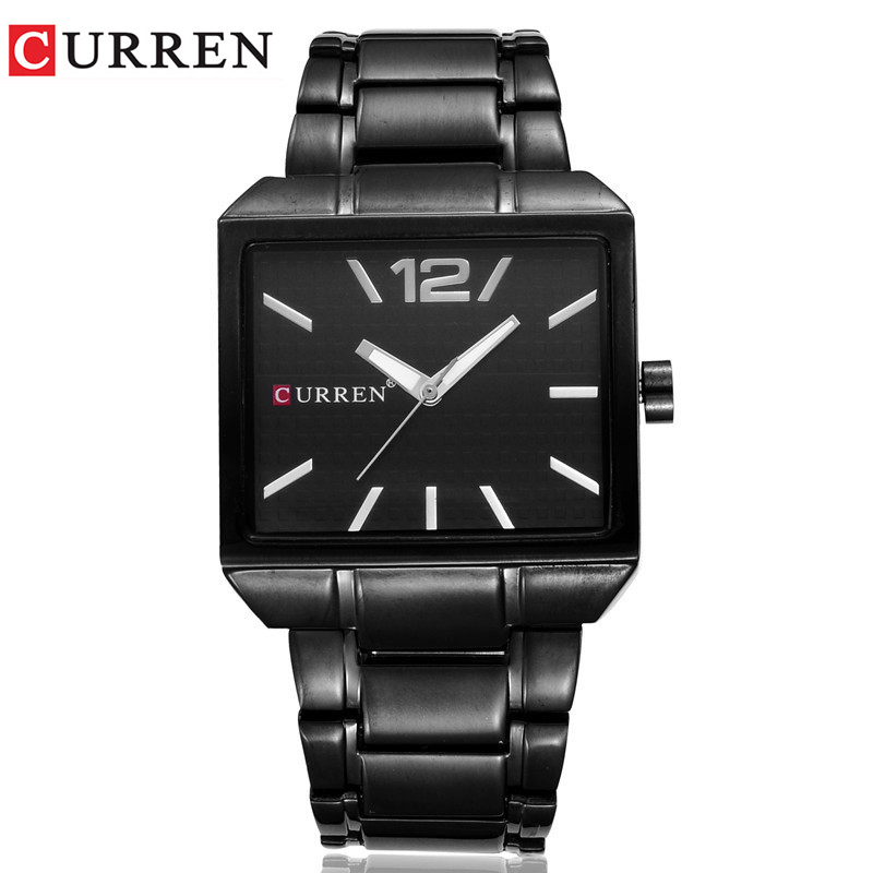 <font><b>CURREN</b></font> Mens Watches Stainless Steel Business Watch Men Top Luxury Brand Waterproof Analog Quartz Wristwatch Relogio Masculino image