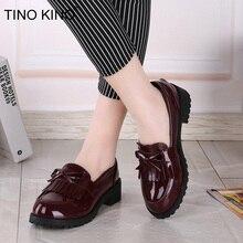 Women Bowtie Tassel Flat Spring Derby Shoes