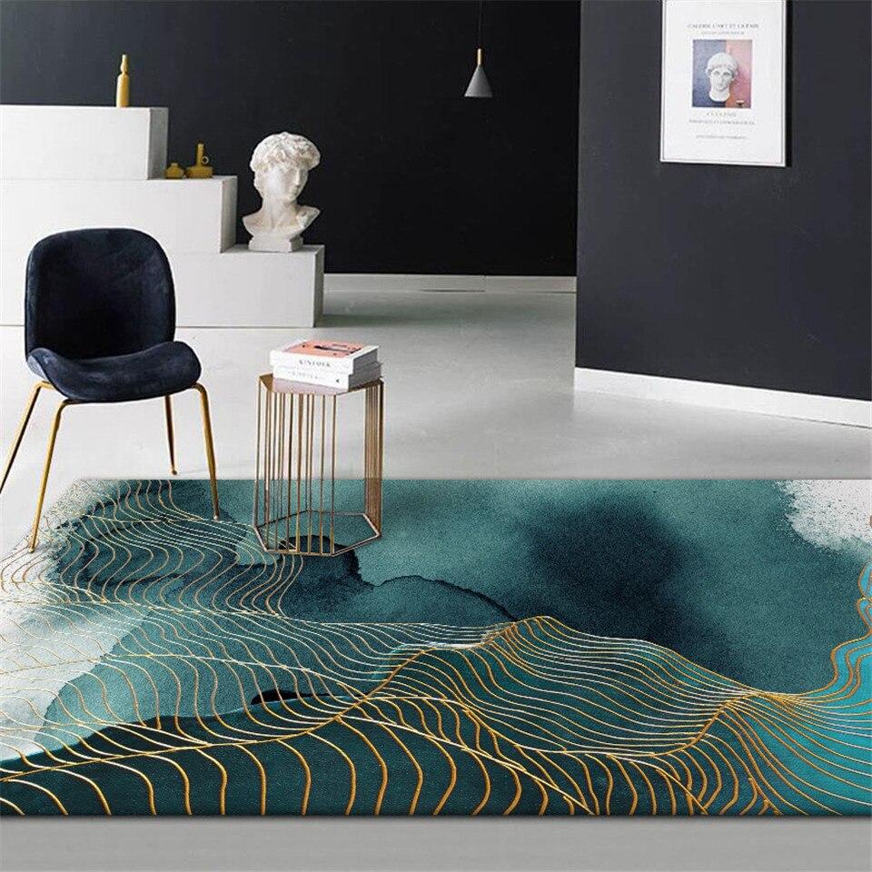 Patrón abstracto 3D Negro Puerta Antideslizante Alfombra de Baño Alfombra Piso Alfombra De Sala De Decoración