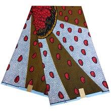 Kwanzaa последняя африканская ткань с принтом голландская восковая ткань 6Yards \ lot