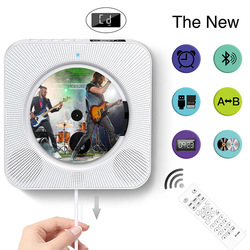 Wall Mounted Bluetooth cd player, Pull Switch with Remote HiFi Speaker USB Drive Player Headphone Jack AUX input/output