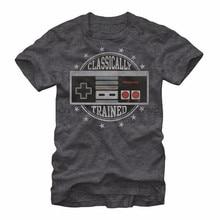 Vedio jogo classicamente treinado controlador t camisa masculina engraçado impresso manga curta t camisas eua mais tamanho S-3XL fábrica atacado