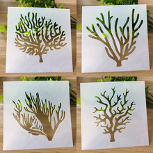 4 Types Tree Layering Stencils for DIY Scrapbooking Photo Album Decorative Embossing DIY Paper Cards Crafts free shipping different layering stencils painting template stamps for diy scrapbooking photo album cards decorative embossing