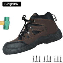 High-steel Steel Toe Cap Men's Anti-smashing Anti-piercing Safety Shoes Non-slip Wear-resistant Breathable Rubber Work Shoes