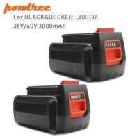 Powtree 3.0Ah 36 V/40 V LBX36 batería recargable para Black & Decker LBXR36 BXR36 LST136 LST420 LST220 LST300 MTC220 MST1024 L30