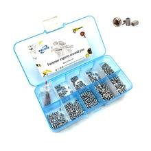 цена на 500Pcs/set M2 M2.5 M3 M4 DIN913 304 Stainless Steel Metric Thread Grub Screw Flat Point Hexagon Socket Set Screws Headless Kit