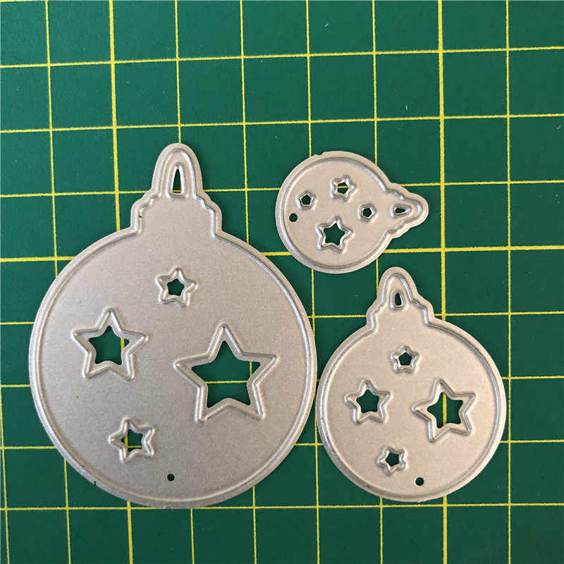 Estrela de natal Bola Corte Morre Modelo Die Molde Stencil Multi-Estilo do Metal Morre Corte para DIY Papel Álbum de Scrapbook cartão