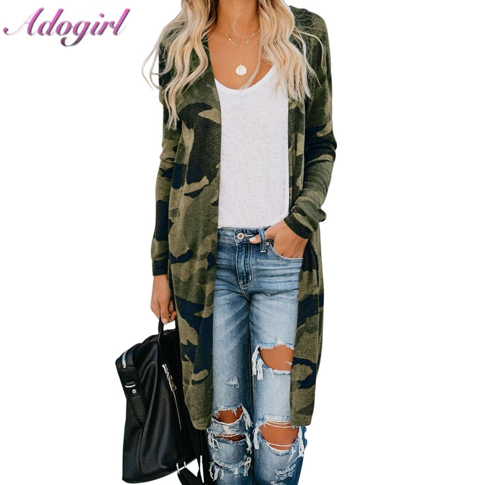 Women Knitted Cardigan Casual Camo Leopard Snake Print Long Sleeve Sweaters Cardigan 2019 Autumn Tops Female Outwear Jacket Coat