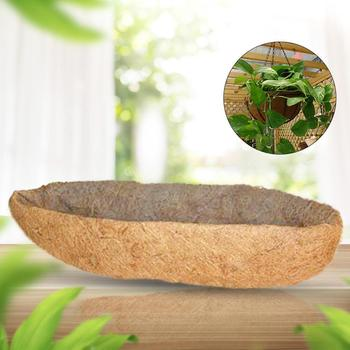 Long Arc Shape Coco Fiber Replacement Liner for Flower Pots Orchid Flower Pot Balcony Planting Coconut Palm Wall Hanging Pot classic pot for planting