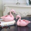 Креативная керамическая пепельница Фламинго фигурки животных пепельница искусство и ремесло украшение дома аксессуары для гостиной R2641