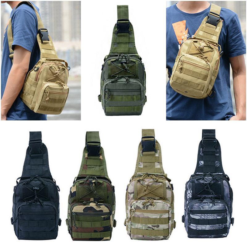Outdoor Camouflage Shoulder Military Bags Sports Climbing Tactical Hiking Camping Hunting Amry Daypack Fishing 900D Backpack