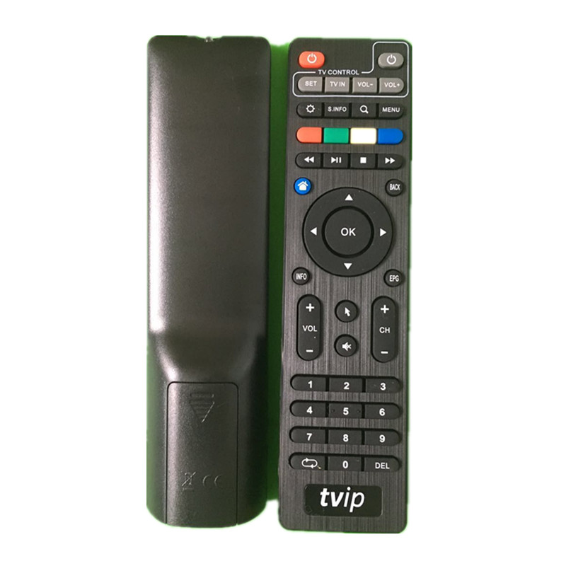 Original TVIP Remote Control For <font><b>Tvip410</b></font> Tvip412 Tvip415 Tvip600 TVIP V605 Black Color tvip Remote Controller without BT image